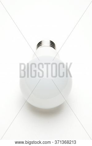 Economical Led Lamp For Lighting On An Isolated White Background