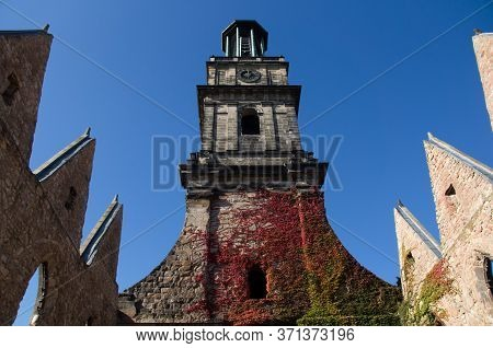 Tower Of The Aegidienkirche In Hanover Through Bombed Window