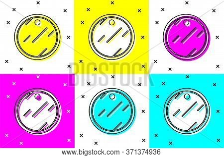 Set Cutting Board Icon Isolated On Color Background. Chopping Board Symbol. Vector