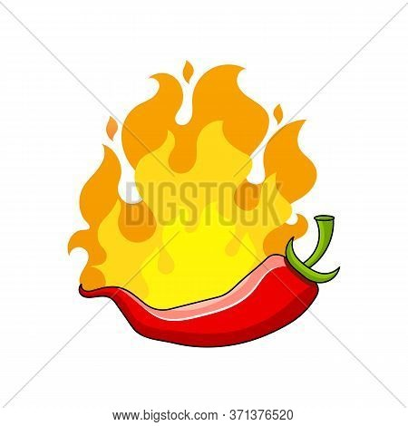 Poster Hot Chili Pepper Illustration Suitable For Greeting Card, Poster Or T-shirt Printing.