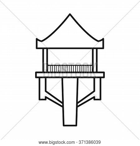 Vector Design Of Stilts And Wood Icon. Set Of Stilts And Patio Stock Symbol For Web.