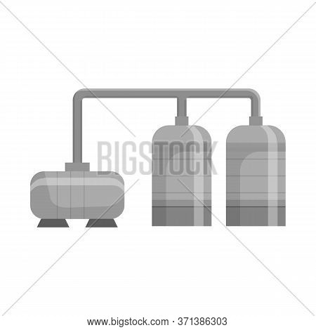 Vector Design Of Manufactory And Refinery Icon. Set Of Manufactory And Steel Stock Vector Illustrati