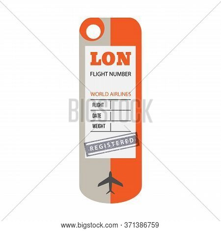 Baggage Tag Vector Icon.cartoon Vector Icon Isolated On White Background Baggage Tag.