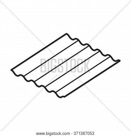 Slate Isometric Vector Icon.line Vector Icon Isolated On White Background Slate .