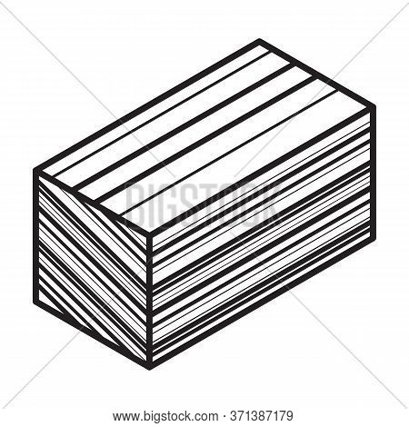 Material For Insulation Isometric Vector Icon.line Vector Icon Isolated On White Background Material