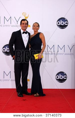 LOS ANGELES - SEP 23:  Ty Burrell arrives at the 2012 Emmy Awards at Nokia Theater on September 23, 2012 in Los Angeles, CA