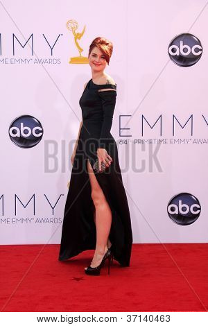 LOS ANGELES - SEP 23:  Alexandra Breckenridge arrives at the 2012 Emmy Awards at Nokia Theater on September 23, 2012 in Los Angeles, CA