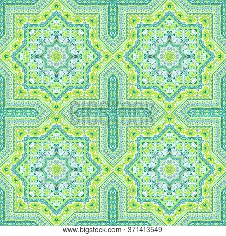 Luxury Moroccan Zellige Tile Seamless Rapport. Ethnic Geometric Vector Patchwork. Ceramics Print Des