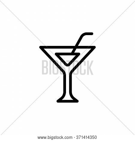 Martini Glass Concept Line Icon. Simple Element Illustration. Martini Glass Concept Outline Symbol D
