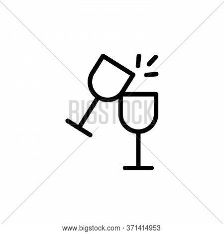 Goblet, Cheers Concept Line Icon. Simple Element Illustration. Goblet, Cheers Concept Outline Symbol