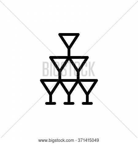 Tequila Glasses Concept Line Icon. Simple Element Illustration. Tequila Glasses Concept Outline Symb