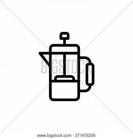 Tea, French Press Concept Line Icon. Simple Element Illustration. Tea, French Press Concept Outline
