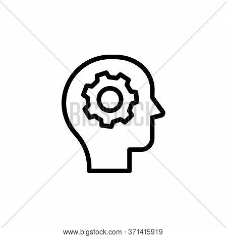 Processing, Brain, Gear Concept Line Icon. Simple Element Illustration. Processing, Brain, Gear Conc