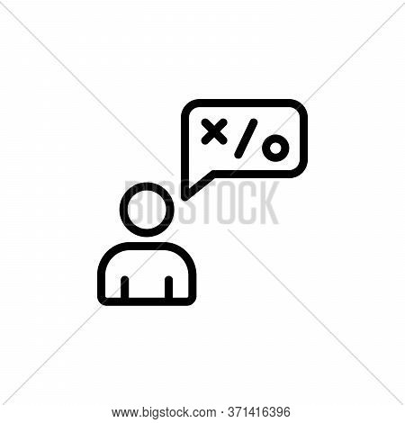 Talk, Businessman Concept Line Icon. Simple Element Illustration. Talk, Businessman Concept Outline
