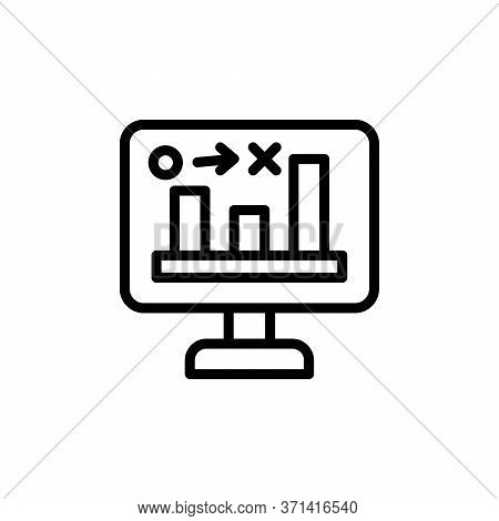 Stats, Computer Concept Line Icon. Simple Element Illustration. Stats, Computer Concept Outline Symb