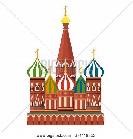Sight Of Moscow Vector Illustration. Moscow Architecture Historical Famous Beautifull Object. Elemen