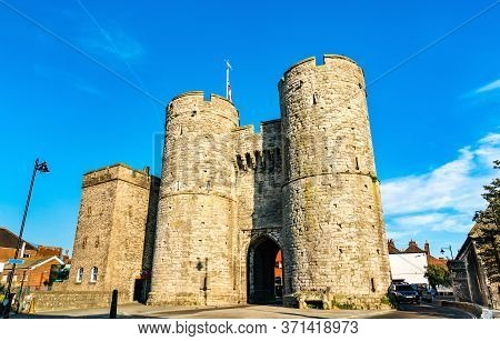 Westgate Towers In The Old Town Of Canterbury, England