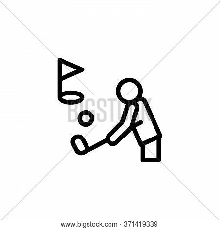 Golf Player, Flag Concept Line Icon. Simple Element Illustration. Golf Player, Flag Concept Outline