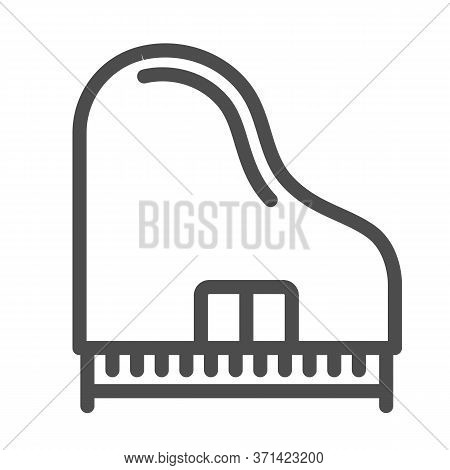 Piano Line Icon, Music Instruments Concept, Synthesizer Sign On White Background, Grand Piano Icon I