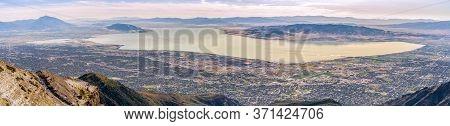 Panorama Of Utah Lake And Utah Valley