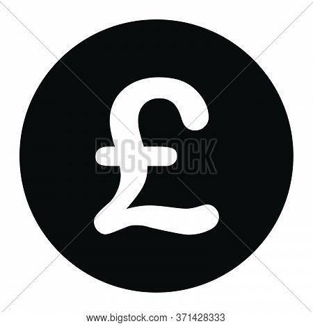 Gbp Great Britain Pound Sterling Symbol. Black Illustration Isolated On A White Background. Eps Vect