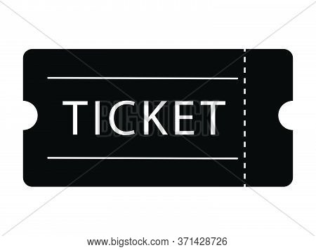 Single Ticket Admission. Black Illustration Isolated On A White Background. Eps Vector