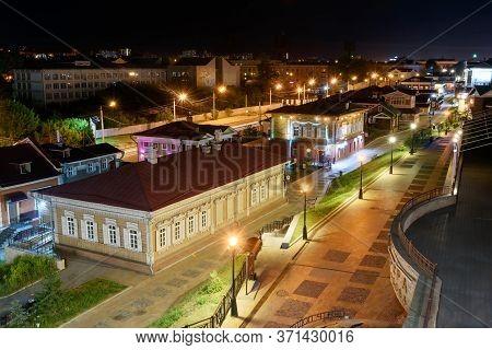 Irkutsk, Russia, June, 14, 2020: 130 Kvartal Quarter, Irkutsk Sloboda Is A Specially Created Area Of