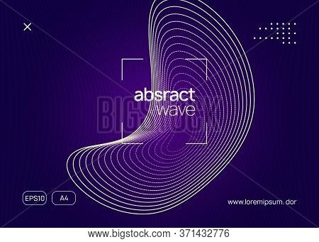 Electronic Event. Dynamic Fluid Shape And Line. Commercial Discotheque Invitation Template. Neon Ele