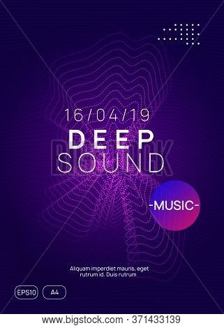 Music Fest. Creative Concert Cover Concept. Dynamic Gradient Shape And Line. Music Fest Neon Flyer.