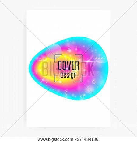Music Fest. Electronic Sound. Night Lifestyle Dance Holiday. Fluid Holographic Gradient Shape And Li