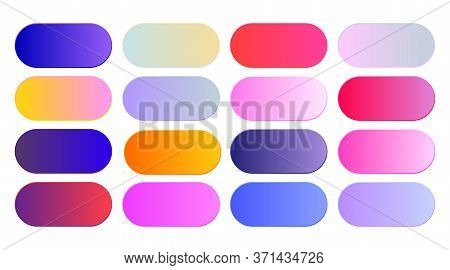 Set Of Vibrant Gradients  Swatches Or Buttons