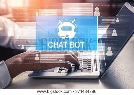 Ai Chatbot Smart Digital Customer Service Application Concept.