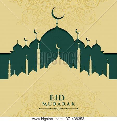 Eid Mubarak Festival Islamic Greeting Design Background