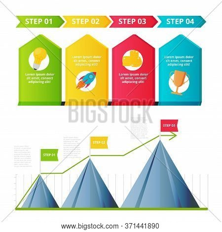 Milestone, Timeline Templates Set For Presentation, Business Concept, Vector Design. Infographic Ele