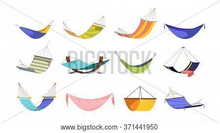 Hammock Hanging Large Set. Modern Hanging Hammocks Bright Fashionable Pink Rhinestones Basket Drawin