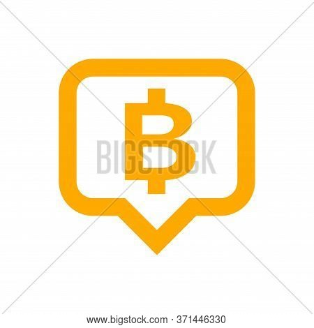 Currency Money In Speech Bubble Square Shape For Icon, Thb Coin Thailand For Flat Icon Style, Thai T
