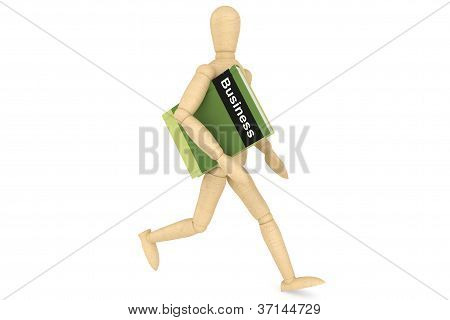 Wooden Dummy With Book