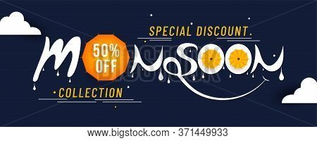 Happy Monsoon Season Sale With A Special Discount Sale. Special Collection With Big Discount Sale Ba