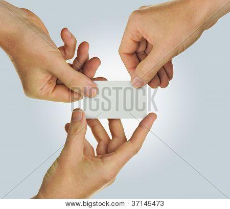 Business Card Teamwork
