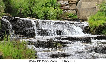 South Dean Beck.  South Dean Beck Beneath Bronte Waterfall Near Haworth In West Yorkshire, England.