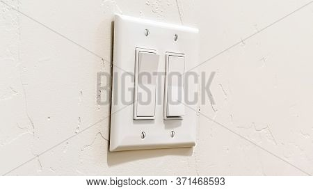 Panorama Wall Mounted Electrical Rocker Light Switch With Multiple Flat Broad Levers