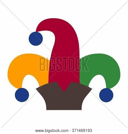 Humor Jester Hat Icon Isolated On White Background. Joker Cap Vector Illustartion