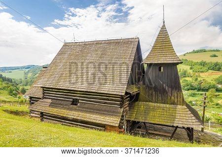 View At The Wooden Church Of Saint Luke Evangelist In Brezany Village, Slovakia
