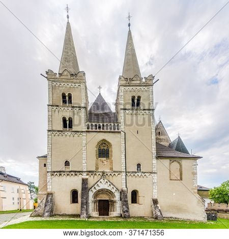 View At The Towers Of Cathedral Of Saint Martin In Spisske Podhradie, Slovakia