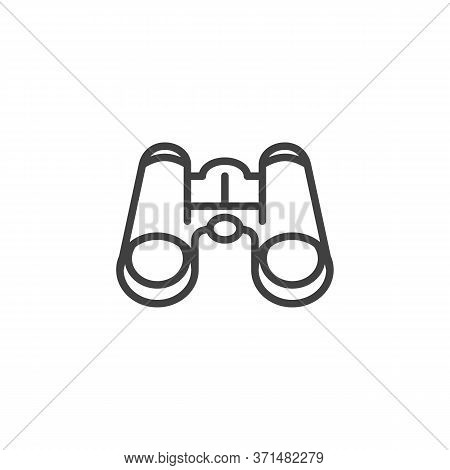 Binocular Line Icon. Linear Style Sign For Mobile Concept And Web Design. Binocular Outline Vector I