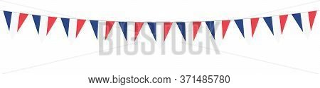 French National Holiday. French Flags With Stripes And National Colors. Tricolor.  14th July. Banner