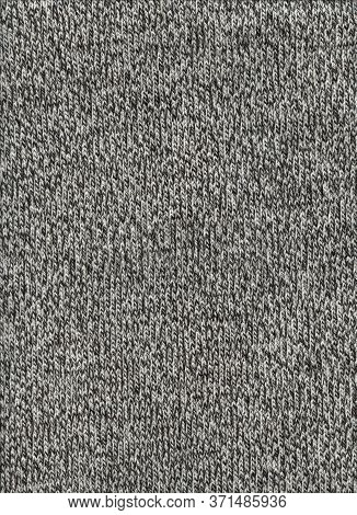 Grey Mottled Wool Texture Background. Close Up Fabric Wallpaper