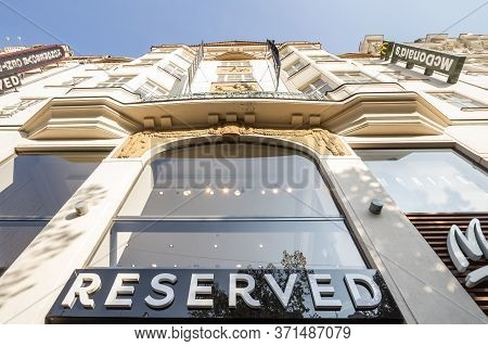 Prague, Czechia - October 31, 2019: Reserved Logo In Front Of Their Store For Brno. Reserved Is A Po