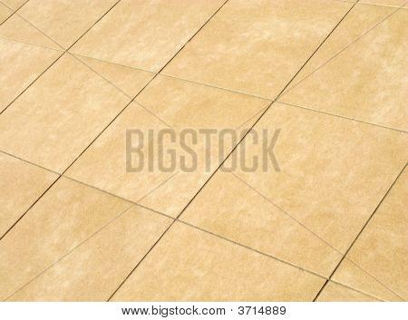 Floor Mosaic In Beige Squares