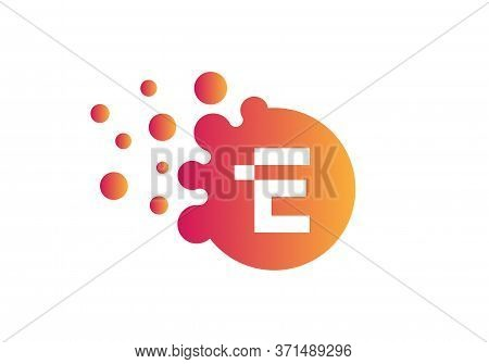 Letter E Bubbles Logo Template. Vector Brand Name Design. Dots Letter E Logo. E Letter Design Vector